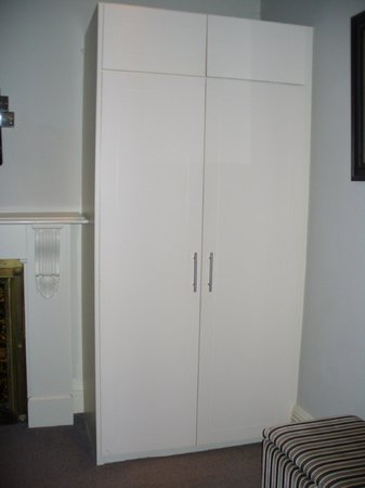 The Old Bell Hotel: Cheap MDF cupboard in our bedroom