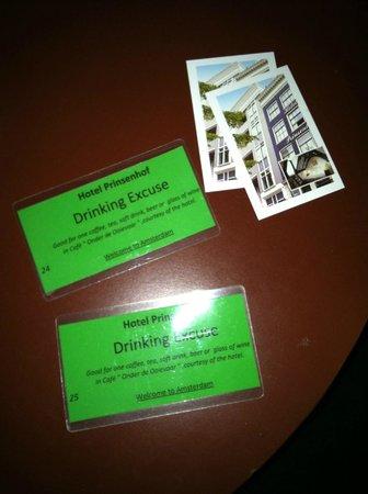 Prinsenhof:                   Free Drinks