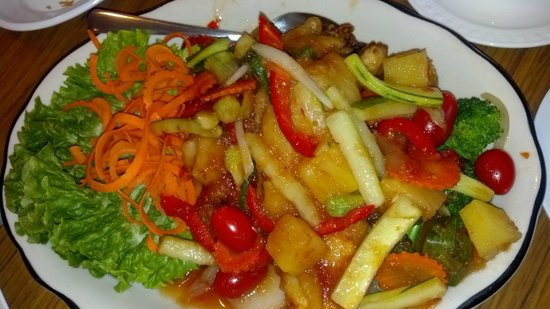 "Thunwa Thai Cuisine:                   House Special ""Sweet and Sour Fried Fish"""