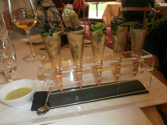 Restaurant B. Collon -  Auberge de Letraz: Cones with snails