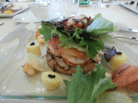 Restaurant B. Collon -  Auberge de Letraz: Lobster Salad
