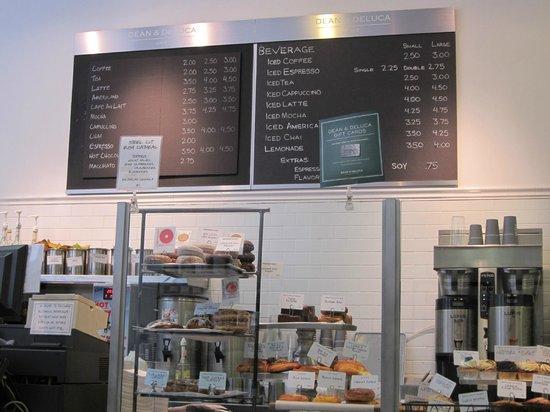 Dean & DeLuca Cafe - Rockefeller Plaza : Menu and goodies