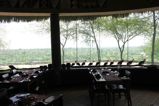 Tarangire Safari Lodge: View of park from dining room