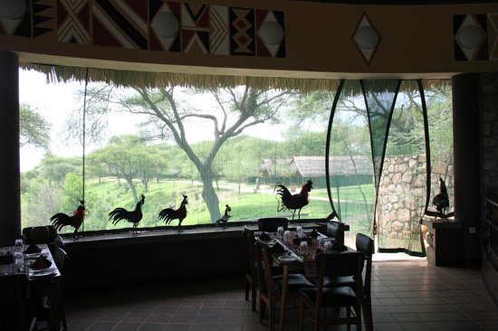 Tarangire Safari Lodge: View of tents from dining room