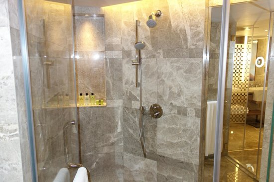 InterContinental Grand Stanford:                   Shower Booth (Premier Harbour View Suite)
