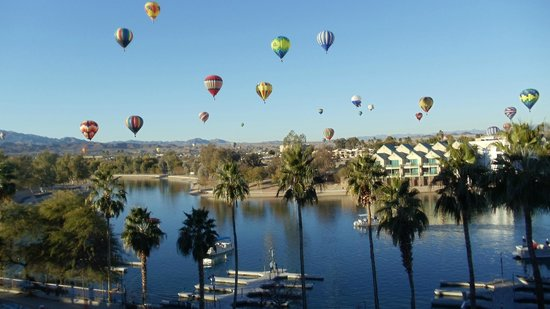 London Bridge Resort :                                     Balloon Festival as seen from the rooftop