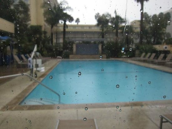 ‪‪Four Points by Sheraton Los Angeles International Airport‬: Swimming Pool in the rain‬