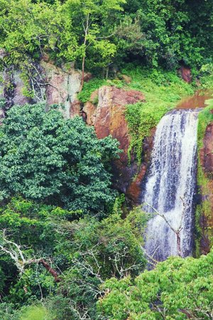 Gibb's Farm: Waterfall seen while on nearby Endoro elephant caves hike