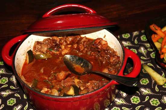 Gibb's Farm: Beef stew at lunch
