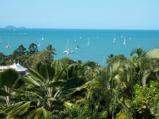 at Water's Edge Resort:                   View from our room #19 looking out to Airlie Beach