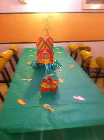 Sunset Cafe:                                     banquet room available for large groups