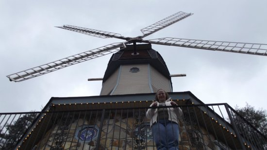 Heidi Motel :                   Me standing on the balcony under the windmill outside of my suite.