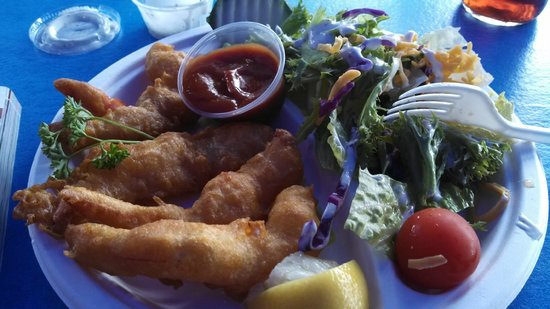 Harbor Fish Cafe: Shrimp and salad