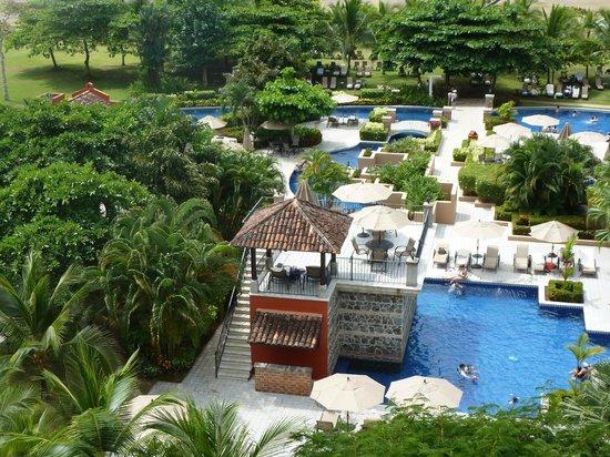 Los Suenos Marriott Ocean & Golf Resort:                   Vista desde el mirador del 5 piso