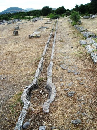 Theater van Epidaurus: Water pipes