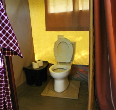 Dunia Camp, Serengeti:                   Toilet
