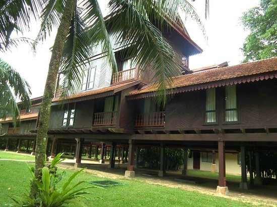 Club Med Cherating Beach:                   View of the Chalets