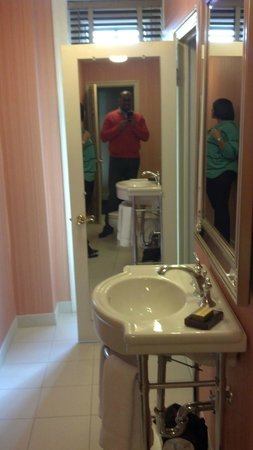 Washington Marriott Wardman Park:                   Narrow but LONG bathroom.