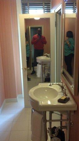 Washington Marriott Wardman Park Hotel:                   Narrow but LONG bathroom.