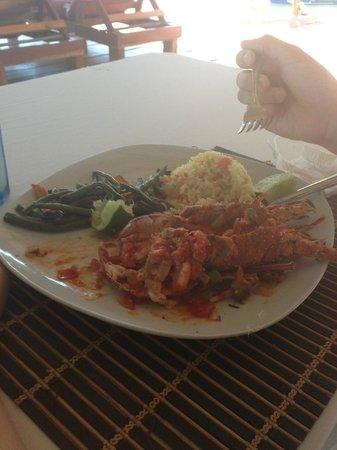 Hotel La Joya del Golfo:                   Mmmmm, lobster. Best we ever had.