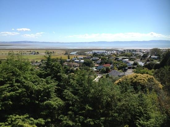 Grafton Cottage and Chalets:                   view from Manuka chalet