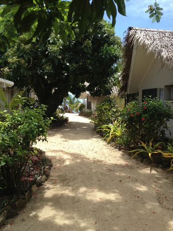 Manuia Beach Resort:                   Tropical gardens