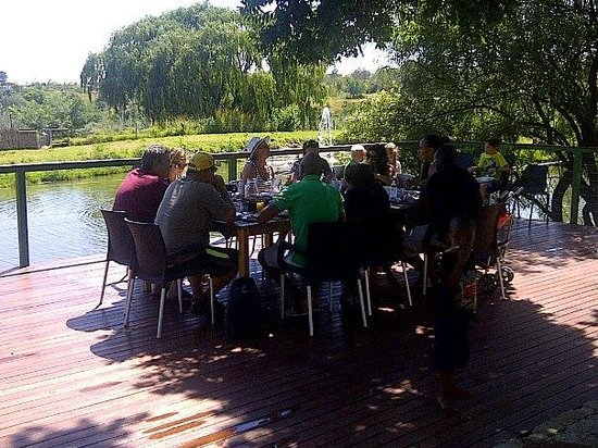 Lanseria Country Estate: Breakfast on the deck