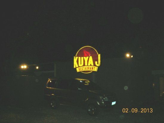 Kuya J: beyond its wide parking space is the resto