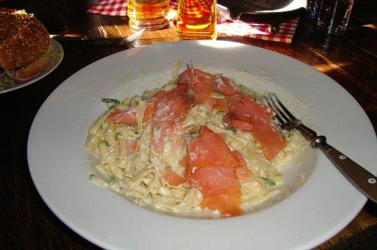 Toni's Almhutte:                   Salmon tagliatelle...huge portion