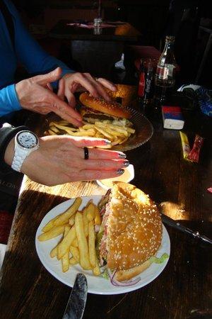 Toni's Almhutte:                   Olymp Burger is a handfull !!!