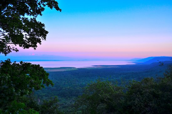 Lake Manyara Wildlife Lodge:                   Sunset View