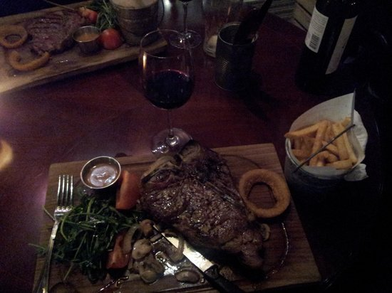 T-bone steak at the smokehouse Killarney, Feb. 9th 2012.