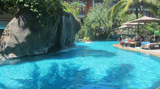 Padma Resort Legian:                   The lagoon Pool ( a small section of it)