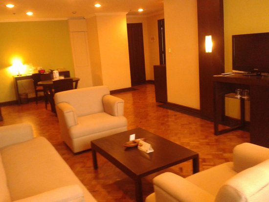 New Horizon Hotel:                   Royal suite living area