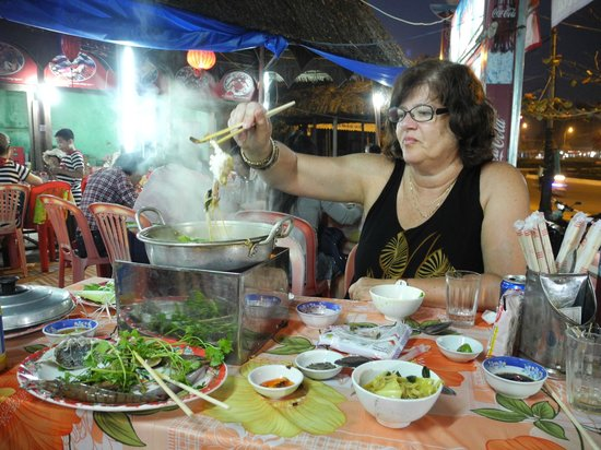 Loc Chau :                   Enjoying the hot pot