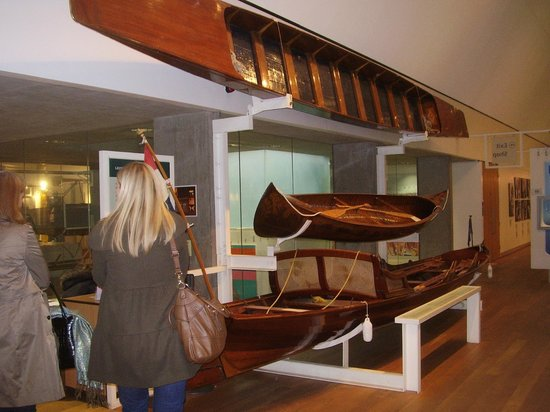 River & Rowing Museum:                   Early wooden rowing boats