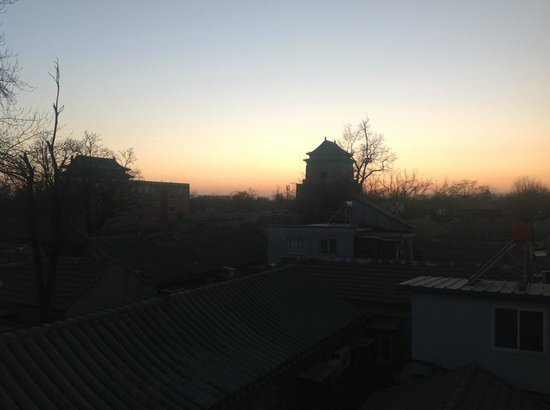 The Orchid Hotel:                   Drum and Bell Towers at sunset - view from 'Yang' private terrace.
