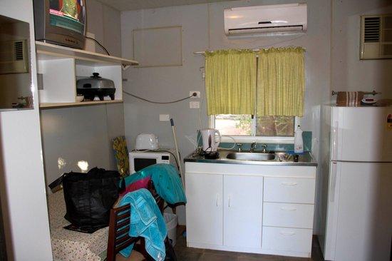 Normanton Tourist Park:                   Inside our cabin