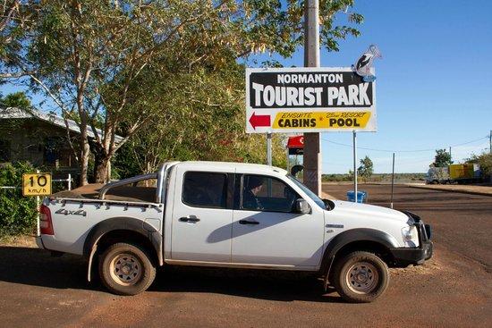 Normanton Tourist Park:                   The entrance to the park