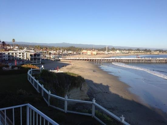 Sea and Sand Inn:                                     View of the Santa Cruz Pier and the Santa Cruz Beach Boardwa
