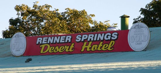 Renner Springs Desert Inn:                                     The sign on top of the roof
