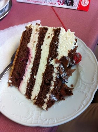 Cafe Schaefer:                   their Black Forest cake