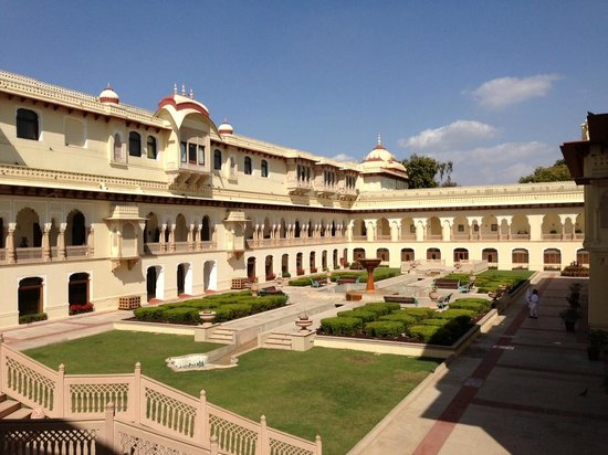 Rambagh Palace:                   Interior garden