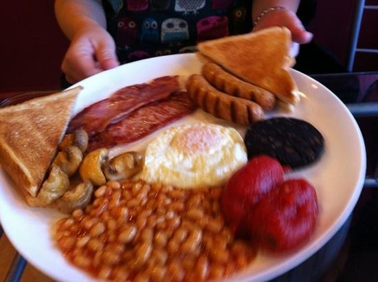 Glossop Cafeteria:                   Full English!