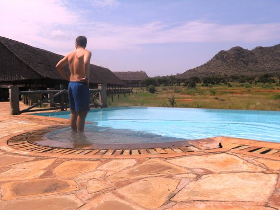 Rama's Hut - Homestay with african family:                                     PISCINA E VISTA VOI WILDLIFE