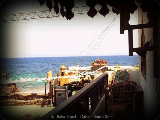 Ali Baba Hotel: Sea view from a balcony