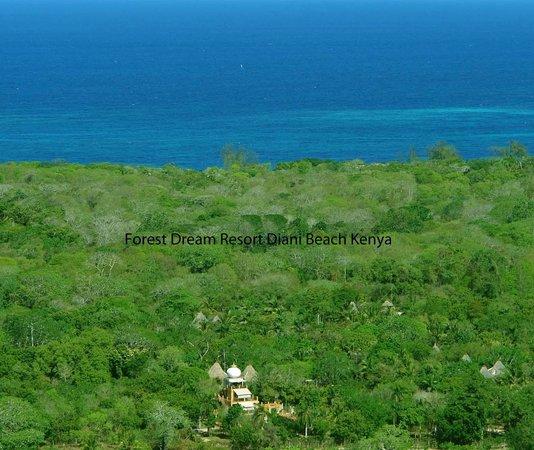Air picture Forest Dream resort, Diani beach