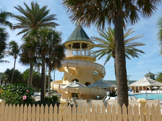 Disney's Vero Beach Resort: Pool slide for the big kid in all of us!
