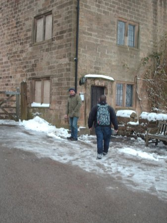 Kirk Ireton, UK:                   The Barley Mow very inviting in the snow
