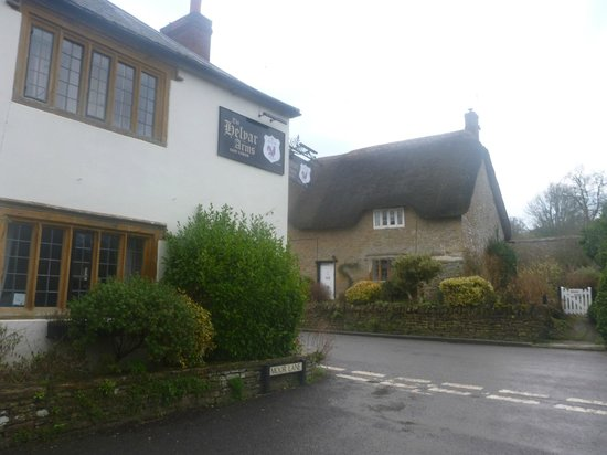 The Helyar Arms:                   The lovely thatched cottages around the hotel